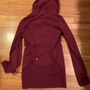 Lululemon burgundy zip up hoodie